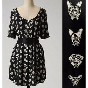 Anthropologie Maeve Cavorting Canines Dress